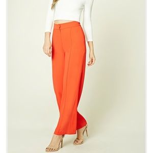 Red wide leg pants new